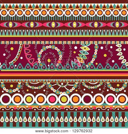 Abstract seamless  tribal ethnic backgrounda