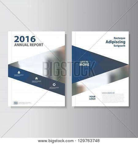 Blue Black Vector annual report Leaflet Brochure Flyer template design, book cover layout design