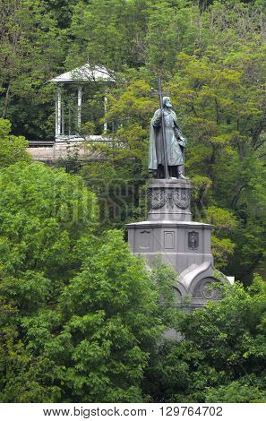 KIEV,UKRAINE - MAY 15, 2016: Monument to Prince Vladimir the Baptist . Kiev. Ukraine