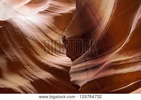 unusual geological formations in Antelope Canyon, Navajo parks, Arizona, slot canyon in the american southwest