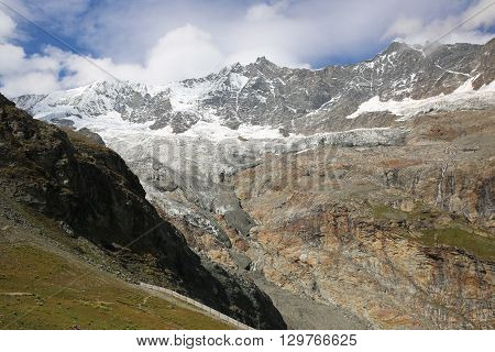 Fee Glacier in the Pennine Alps. Switzerland