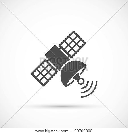 Satellite signal icon. Navigation satellite vector illustration