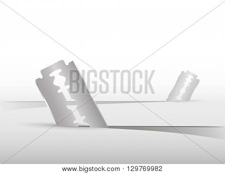 Abstract background with two blades cutting the floor