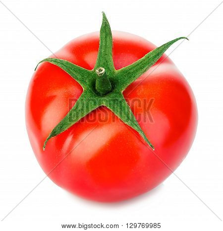 Ripe Red Tomato Close-up Isolated On A White Background.