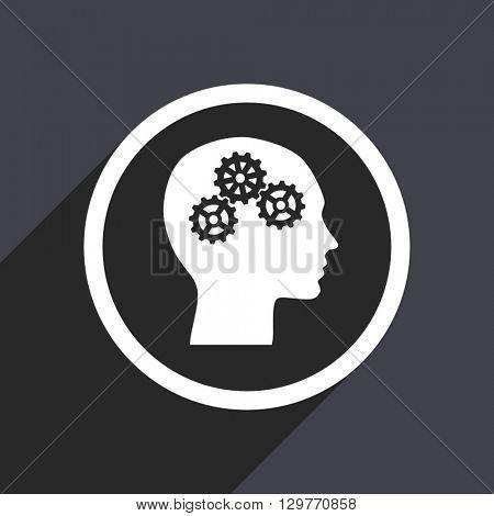 flat design head modern vector icon