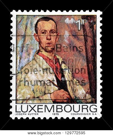 LUXEMBOURG - CIRCA 1975 : Cancelled postage stamp printed by Luxembourg, that shows portrait of a man.