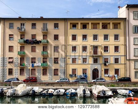 Canals in Livorno Tuscany Italy - also called little Venice