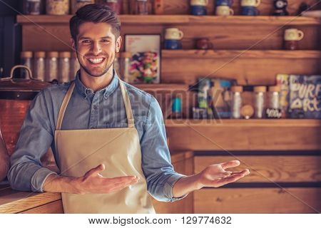 Handsome Young Waiter