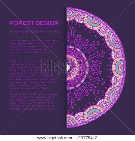 Vector Round Mandala In Childish Style.