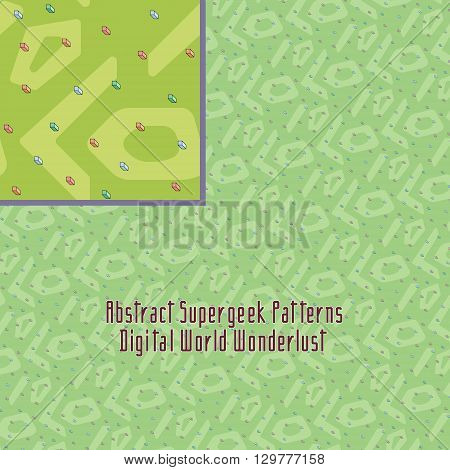 crazy digital pattern with strange abstract and unusual geometry