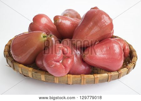 Rose apple isolated on the white background