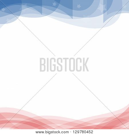 An abstract illustration on the United States patriotic background in red and blue colors