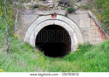 Architectural landmark - The tunnel in the fortress Kerch