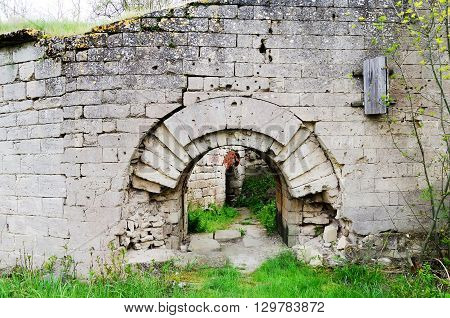 Architectural landmark - Wall of the fortress Kerch