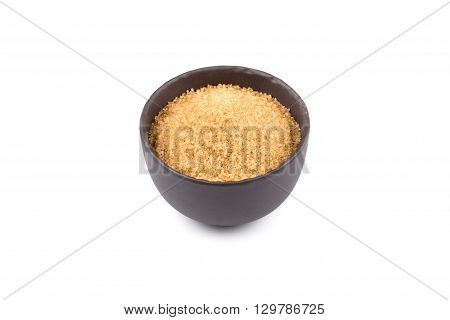 Brown Sugar In A Dark Bowl