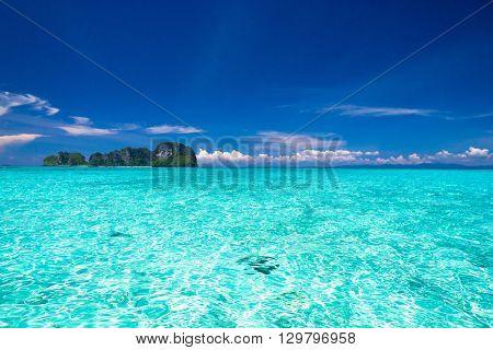 Sunny Waters Idyllic Seascape