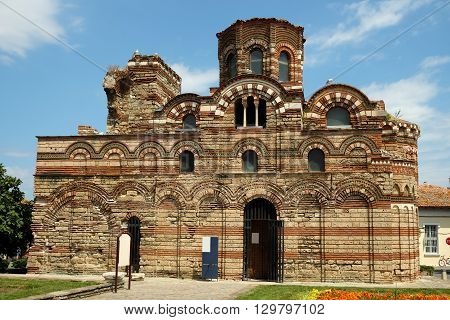 Church of Christ Pantocrator in old town of Nessebar Bulgaria