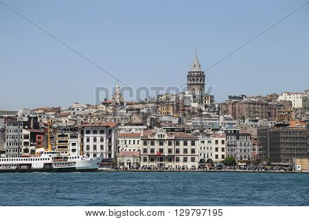 Karakoy And Galata Tower In Istanbul, Turkey