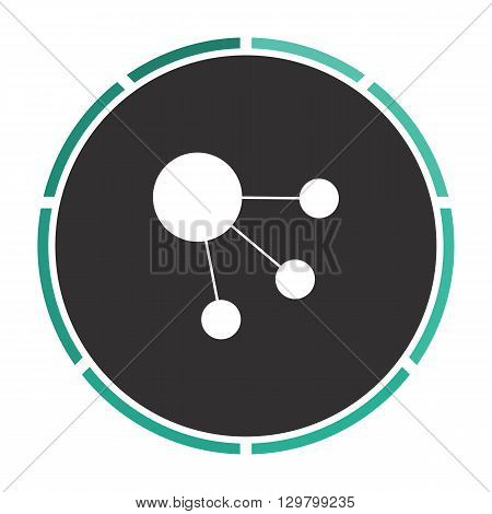 satellite Simple flat white vector pictogram on black circle. Illustration icon