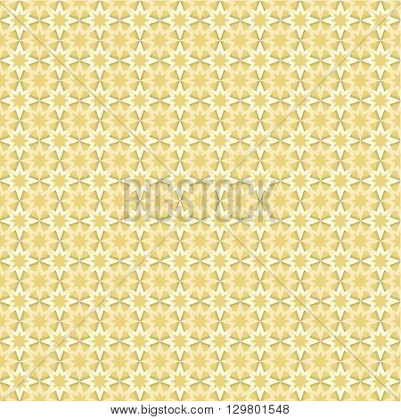 Seamless pattern with yellow and light stars on tan (beige) background endless seamless pattern star star pattern geometry abstract yellow shadow perspective 3d illusion