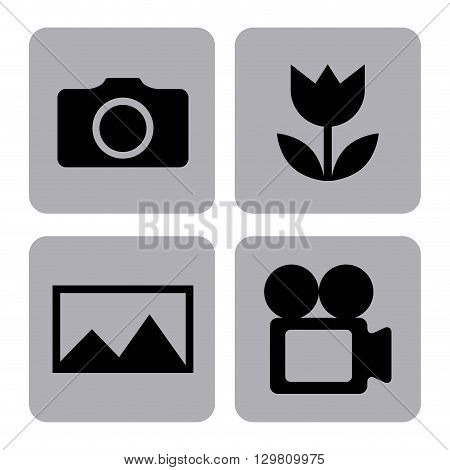 settings camera design, vector illustration eps10 graphic