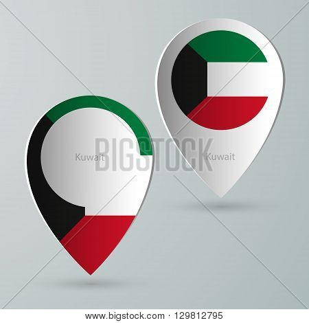 paper of map marker for map and navigators kuwait