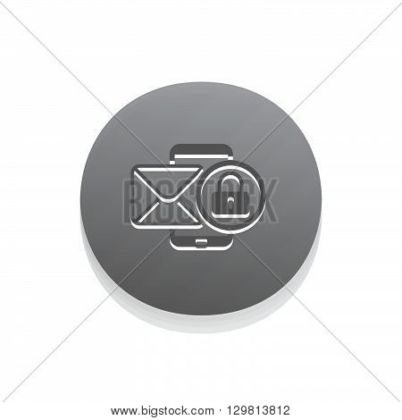 Privacy Protection Icon. Business Concept Grey Button Design