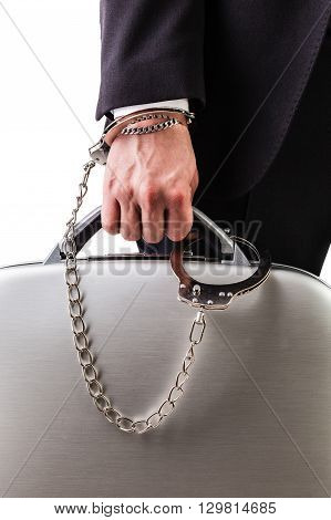 Wrist Chained Safe Suitcase
