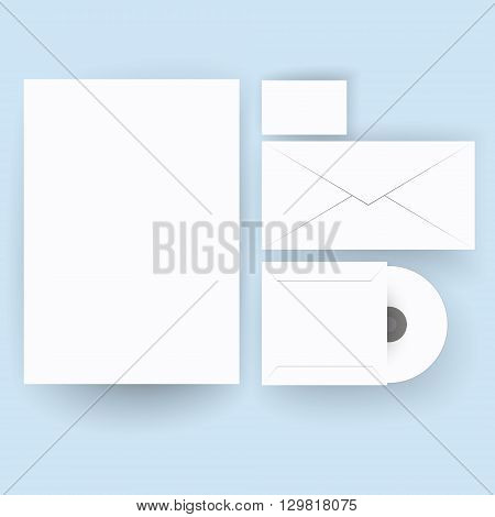 Template for branding identity. For graphic designers presentations and portfolios vector