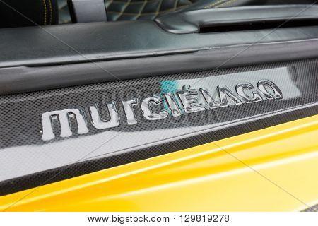 Yellow Lamborghini Door Logo
