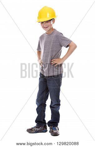 Little Boy Wearing Helmet