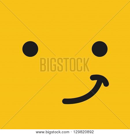emoticon face design, vector illustration eps10 graphic