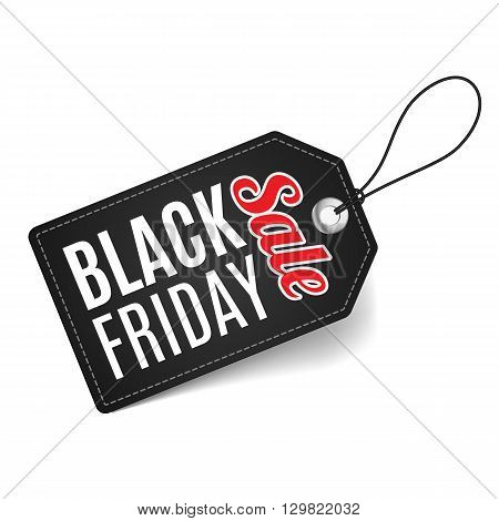 Label on thread. Black Friday discounts increasing consumer growth.