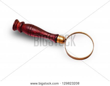 the old Magnifier carved on a white background