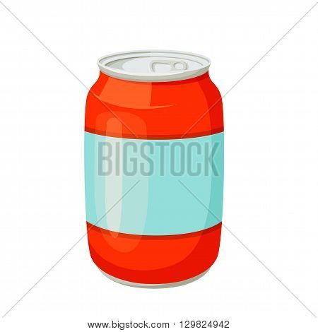 Soda cans. Drinks and soda jars vector illustration. Beverage packaging. Cans of soda, cola, water, beer, soft drinks. Design of cans for drinks. Cartoon cans blank