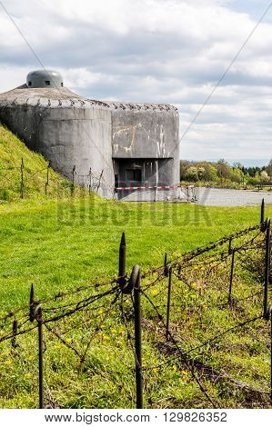 Czech defense fortification bunker from world war two