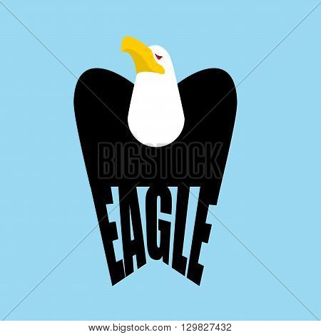 Eagle Logo. Falcon  Emblem Of A Bird Of Prey. Hawk Sign