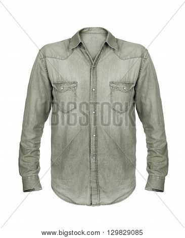 Gray shirt isolated on a white background