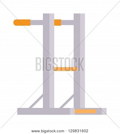 Gymnastics wall bars. Gymnastics ladder with horizontal bar. Sport equipment gymnastics wall bars. Vector illustration for sports clubs and gyms gymnastics wall bars activity train athletic recreation.