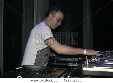 DJ Judge Jules spins records at The Avalon in Hollywood, USA on November 25, 2004.