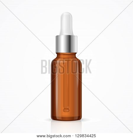 Essential Oil Bottle Package. Blank Template. Vector illustration