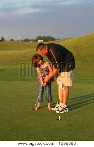 Golfing Girl- Teaching