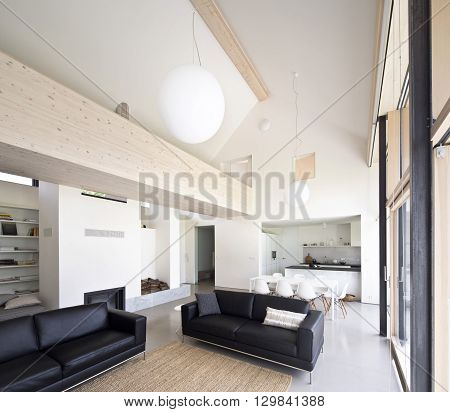 large family house with big window and living space
