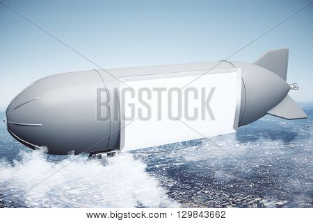Airship With Blank Banner
