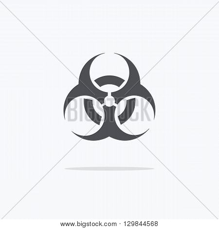 Biohazard sign icon. Black and white biohazard sign. Vector illustration.