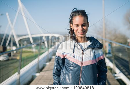 Portrait Of A Beautiful Runner Woman
