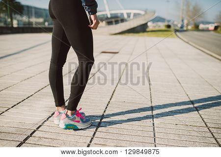Legs Detail Of A Female Runner