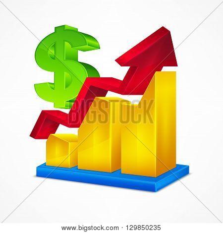 Chart Icon & Dollar