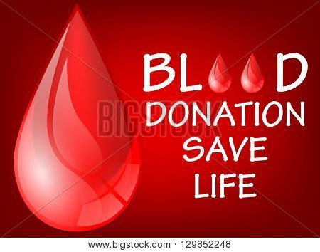 Vector illustration of World blood donation save life day