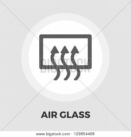 Rear window defrost icon vector. Flat icon isolated on the white background. Editable EPS file. Vector illustration.